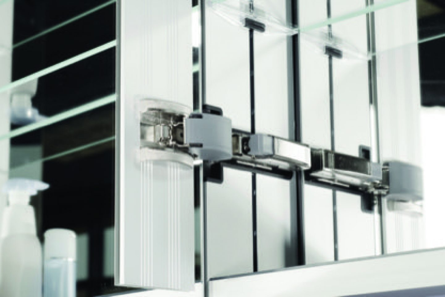 Sidler Diamando Collection Mirrored Bathroom Cabinets