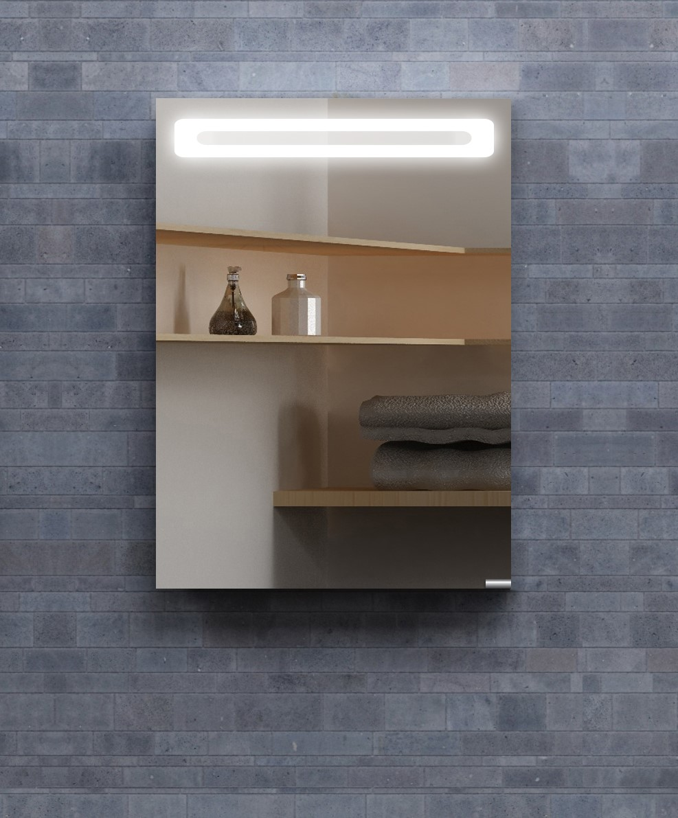 LED Collection Mirrored Medicine Cabinet