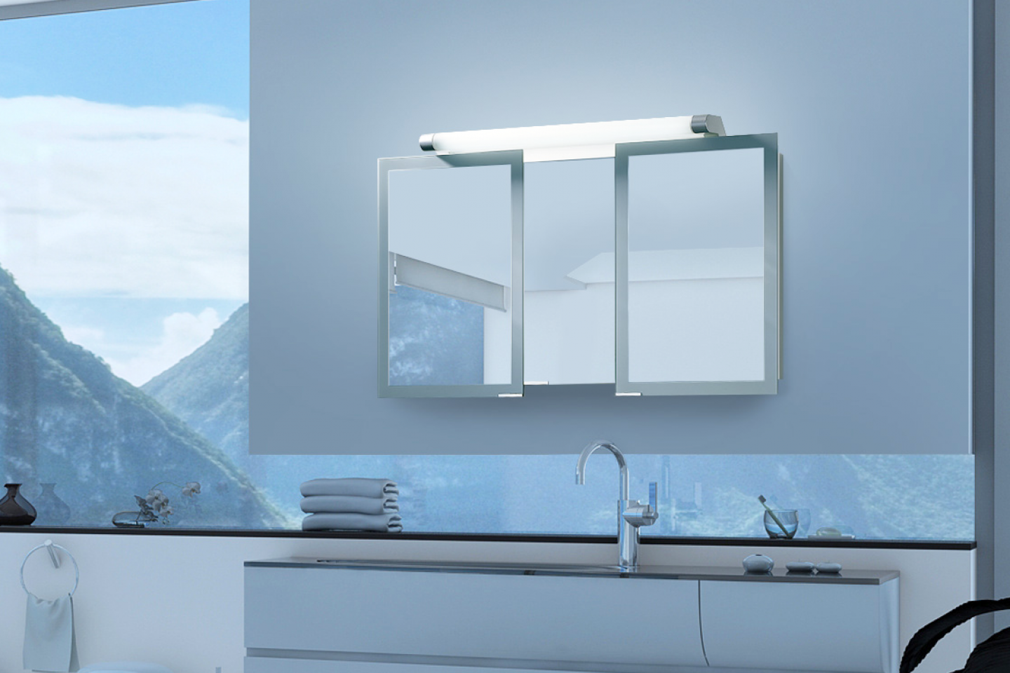 Sidler Axara - Anodized Aluminum Mirrored Bathroom Cabinets for Bathroom Cabinet With Mirror Price  587fsj