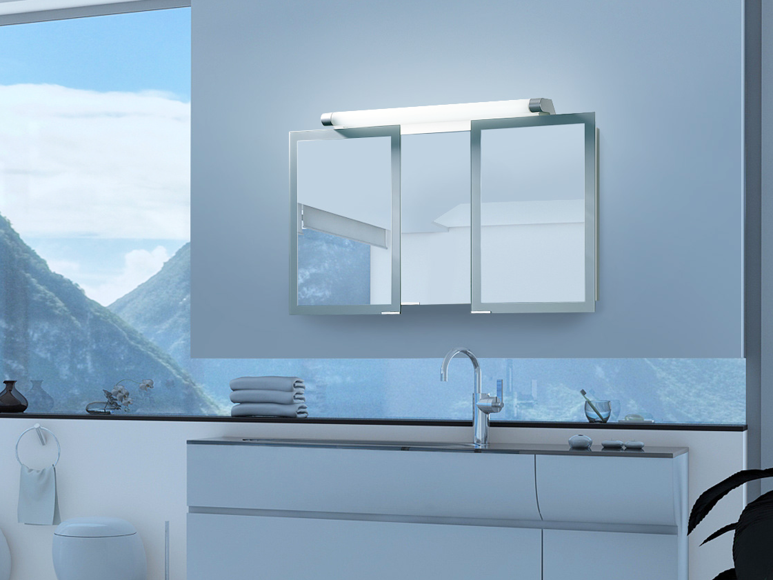 Sidler Axara - Anodized Aluminum Mirrored Bathroom Cabinets