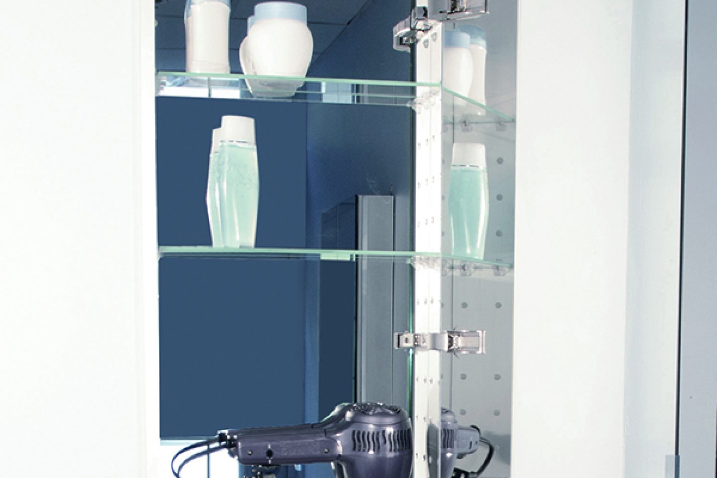 SIDLER Tall Collection - Full Length Mirror with Storage