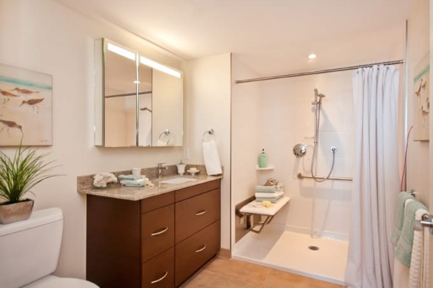Westerleigh PARC Retirment Living Bathroom and SIDLER Mirrored Cabinet