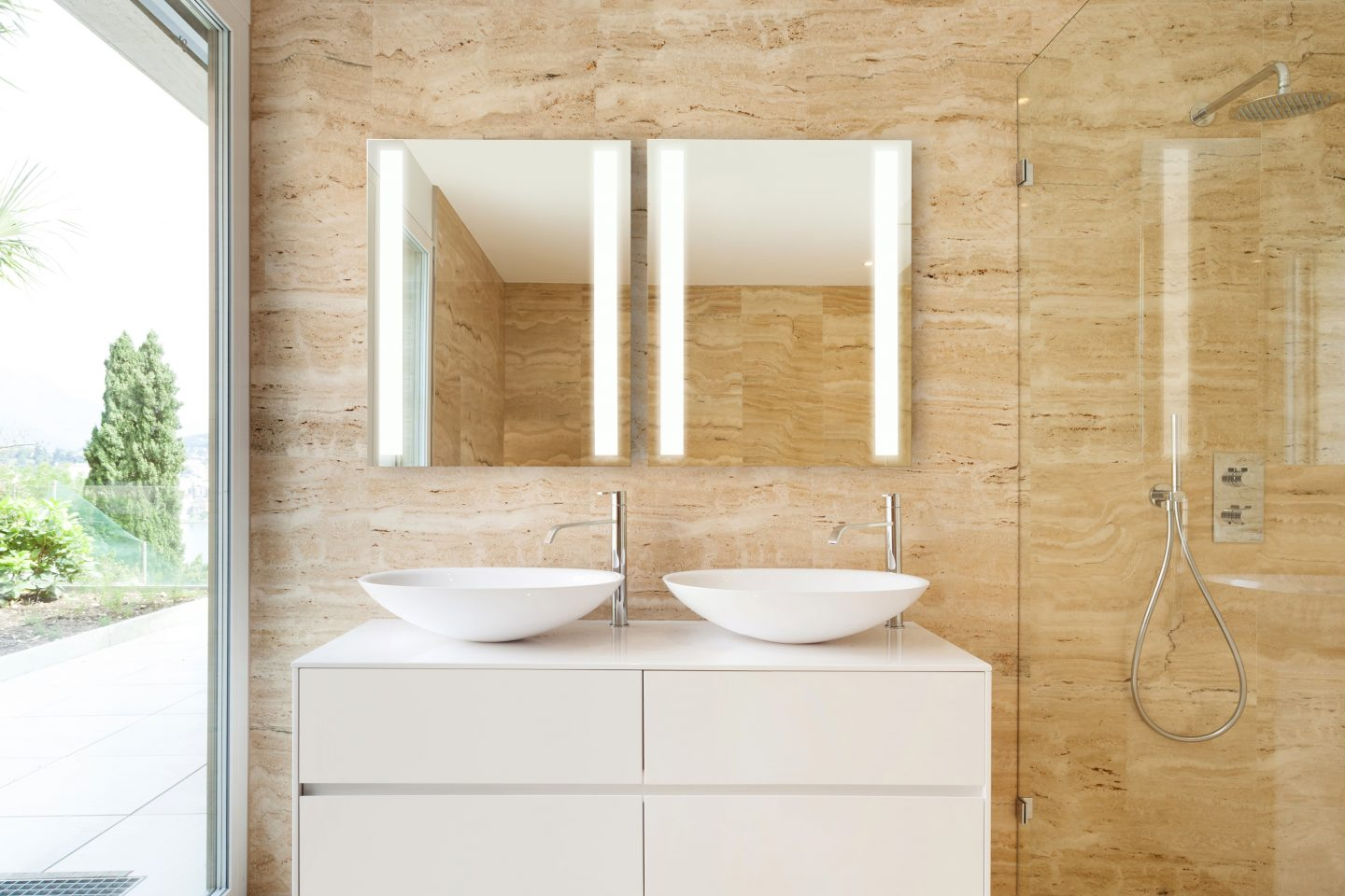 Medicine Cabinet With Built In Side Lights sidler - sidelight mirrored bathroom medicine cabinet