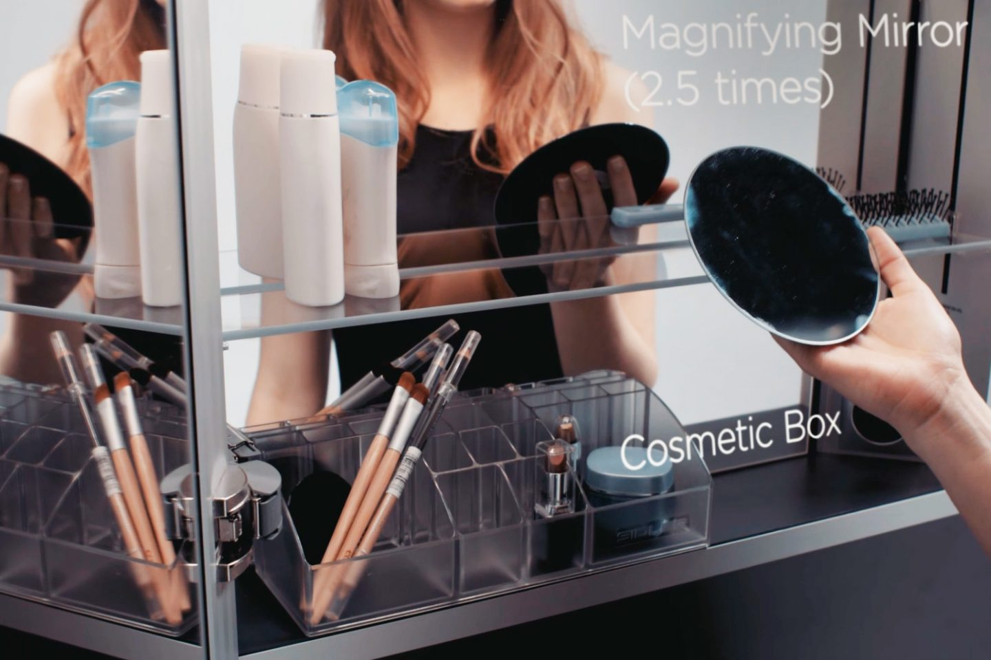 LED - Cosmetic Box and Magnifying Mirror