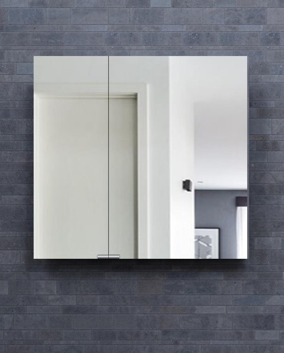 Diamando Non-Electric Mirrored Medicine Cabinet