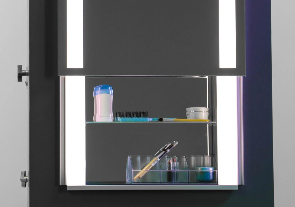 SIDLER Sidelight Mirrored Cabinet
